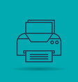isolated icon of office printer vector image