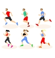 Running men and women vector image