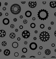 seamless pattern with black gears vector image
