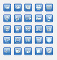 set collection of modern icons vector image