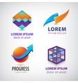 set of abstract colorful logos company vector image