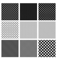 Set of simple geometric seamless patterns vector image