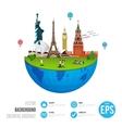 World landmarks concept on white background vector image