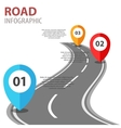 Infographic with a road on white vector image