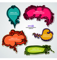 Multicolored floral speech bubbles vector image vector image