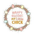 Easter circle frame vector image vector image