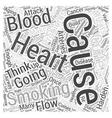 Stop Smoking in Healthy Aging Word Cloud Concept vector image