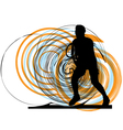 man playing tennis vector image vector image