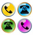 glossy phones icons vector image vector image