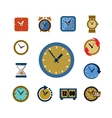 clocks icons vector image