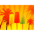 Tropical sunset with ice lolly vector image vector image