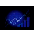 stock market graphs vector image vector image