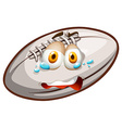 Rugby with crying face vector image