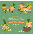 St Partick day with leprechaun vector image