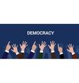democracy democration concept crowd people raise vector image