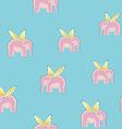 Flying elephants seamless vector image vector image