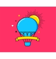 Outline modern colorful banner hot air balloon vector image