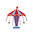Carousel With Sits On Chains vector image