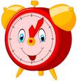 Cartoon happy clock vector image