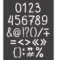 Elements font vector image