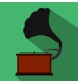 Gramophone flat icon vector image