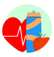 health lifestyle icon vector image