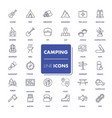 line icons set camping vector image
