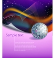Modern background with disco ball vector image