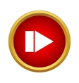 Play button icon simple style vector image