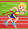 runner man winning a race vector image