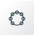 tambourine outline symbol premium quality vector image