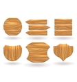 Wood boards of different shapes vector image