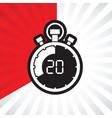stopwatch twenty minute vector image
