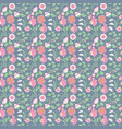 beauty flowers seamless pattern vector image vector image