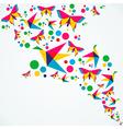 Summer color splash vector image