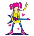 Rockstar girl vector image
