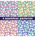 Set of seamless patterns Abstract vector image