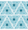 Blue seamless ornament for wallpaper vector image