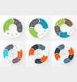 circle arrows infographics set Template vector image