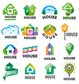 large set of logos homes vector image vector image