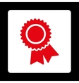 Certification icon from Award Buttons OverColor vector image