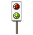 Traffic light with green and red lights vector image vector image