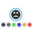 blind smiley icon vector image