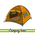 Camping Equipment Tent vector image