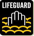 Lifeguard sign vector image