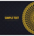 mandala pattern on a black background vector image