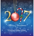 New year 2017 background vector image
