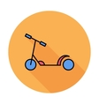 Scooter child vector image