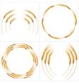 Set of 4 detailed Wheat ears EPS 10 vector image