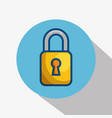 yellow padlock icon vector image
